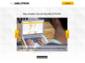MyJablotron Web Self Service